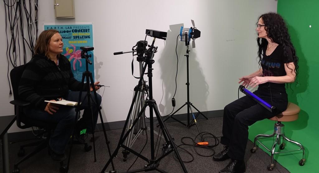 Kristin Erickson interviewing Carla Scaletti UCSC 2016